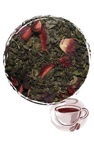 """Зеленый чай """"Малина со сливками"""""""