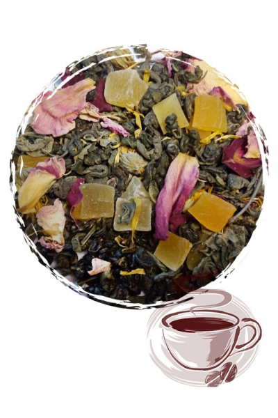 """Зеленый чай """"Манговый"""" (средний лист)"""